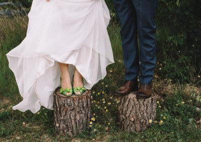 Feld Hochzeit